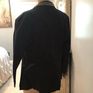 Rock & Republic Jackets & Coats - Rock & republic black blazer rhinestone trim Sz10